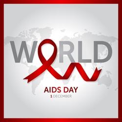 1 december world aids day concept design vector illustration