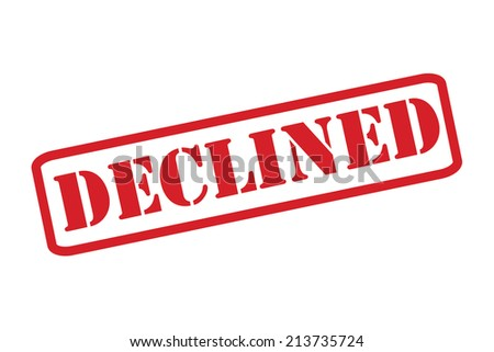 'DECLINED' red rubber stamp vector over a white background.