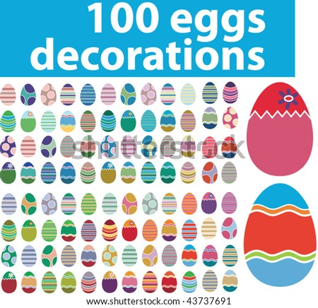100 decorations. vector