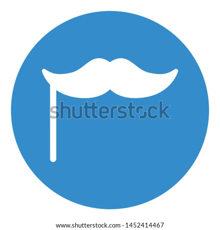 Decorative mustache, mustache design Isolated Vector Icon which can easily modify or edit