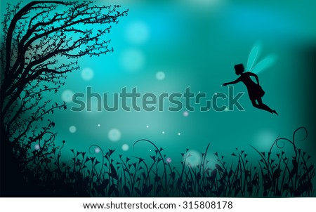 deep fairy forest silhouette