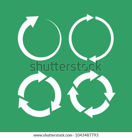 360 degree loop arrow icon set illustration isolated on white background