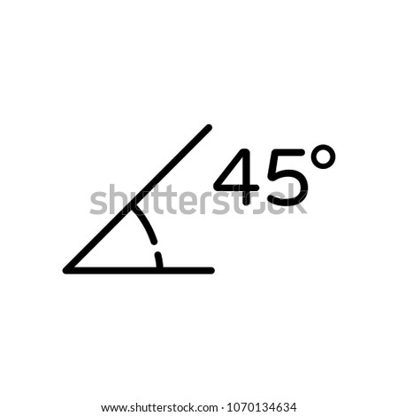 45 Degrees Angle Vector Icon Illustration For Web And Mobile App.Ui/Ux
