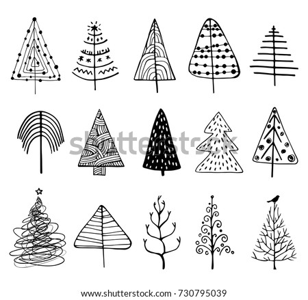 15 designs of doodle christmas