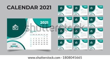 2021 desk calendar, desk calendar template 2021, 2021 corporate desk calendar, 2021 creative desk calendar