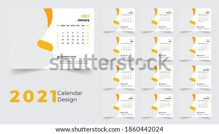 2021 desk calendar, desk calendar template 2021, creative desk calendar 2021, corporate desk calendar
