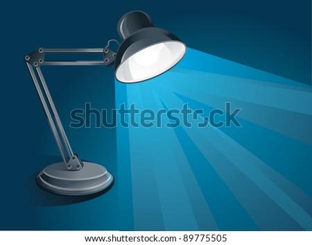 desk lamp -vector illustration