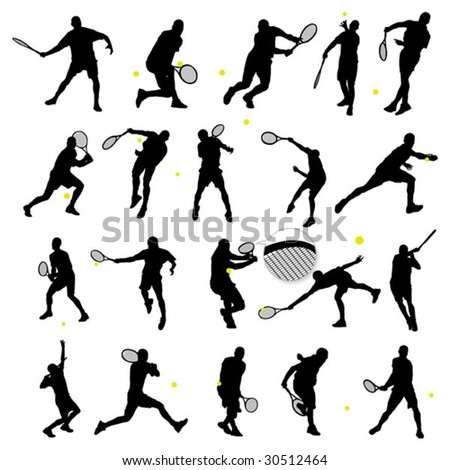 20 detail tennis poses in