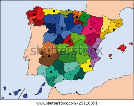 maps of spain black and white. map of spain and france