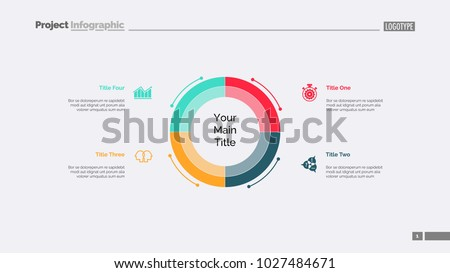 Diagram With Four Elements Slide Template