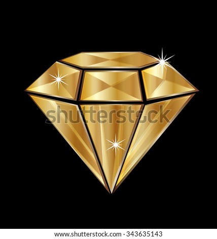 diamond in gold with bling