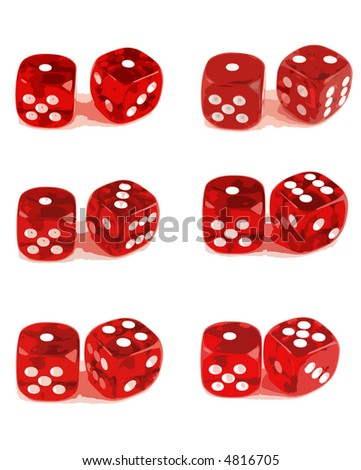 2 Dice Showing all number combinations (1 of 3). File 2 ID:4816708 File 3 ID:4816711