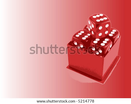 5 Dice with Copyspace