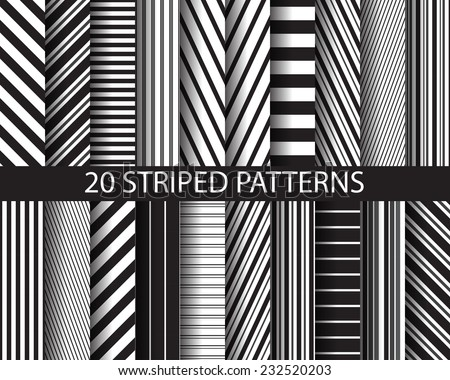 stock-vector--different-black-and-white-stripes-seamless-patterns-pattern-swatches-vector-endless-texture