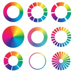 9 different color wheels.