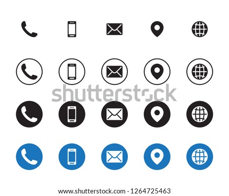 4 Different Contact Icons