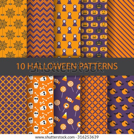 10 different halloween vector