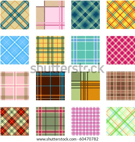 16 different plaid patterns