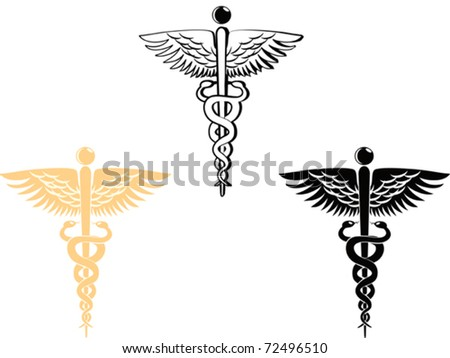 3 different style of medical symbol