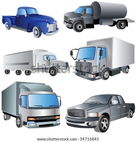 6 different trucks