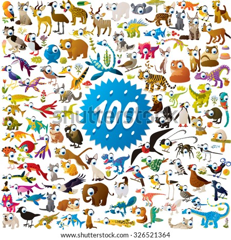100 different vector bright