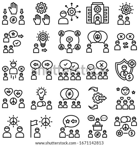 Digital processing Line vector icons pack every single icons you can be easily modified or edit