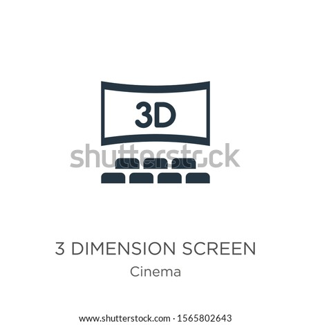 3 dimension screen icon vector. Trendy flat 3 dimension screen icon from cinema collection isolated on white background. Vector illustration can be used for web and mobile graphic design, logo, eps10