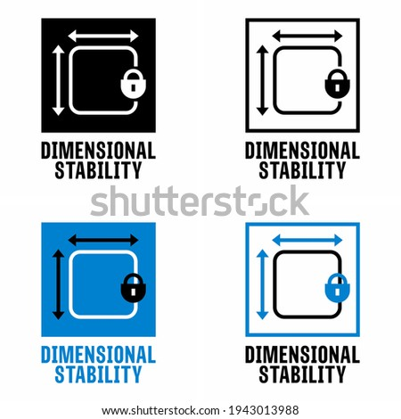 'Dimensional Stability' vector information sign Photo stock ©