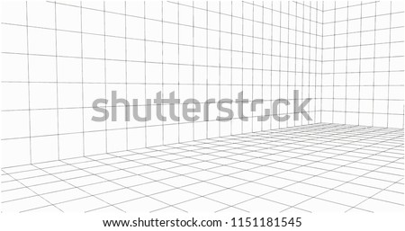 3 dimensions grid line for 3d