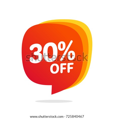 30 discount, Sales Vector badges for Labels, , Stickers, Banners, Tags, Web Stickers, New offer. Discount origami sign
