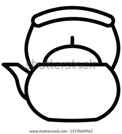 Dishware Isolated Vector icon which can easily modify or edit