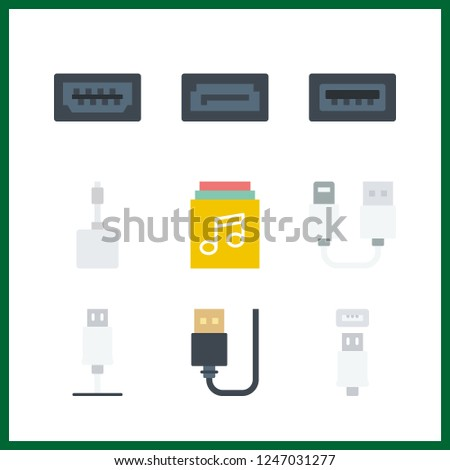 9 disk icon. Vector illustration disk set. sata and usb icons for disk works