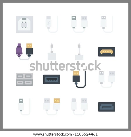 16 disk icon. Vector illustration disk set. usb and sata icons for disk works