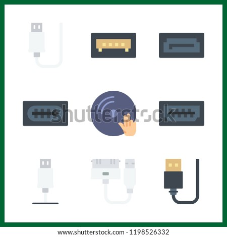 9 disk icon. Vector illustration disk set. vinyl and usb icons for disk works