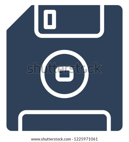 Diskette, floppy Isolated Vector Icon That can be easily edited in any size or modified.