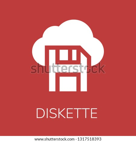 Diskette icon. Editable  Diskette icon for web or mobile.