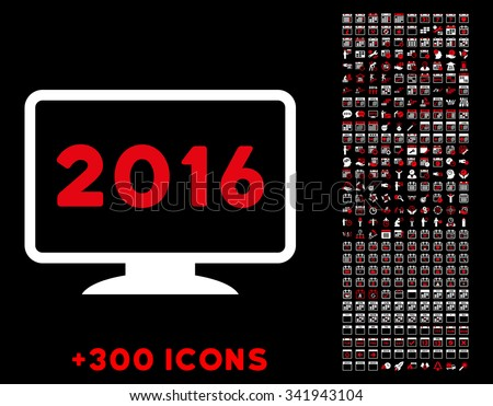 2016 display vector pictogram