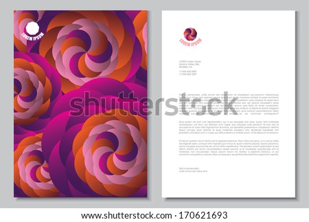 Documentation for business. Vector template.