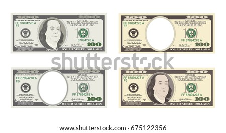 100 dollars banknote bill one