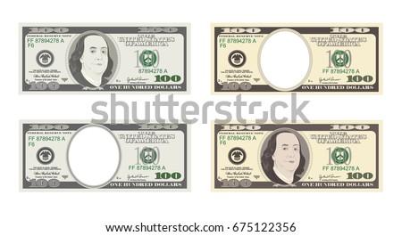 100 dollars banknote bill one
