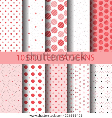 10 dotted seamless patterns