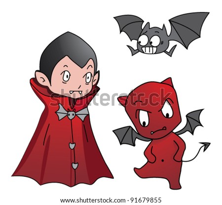 dracula and red devil