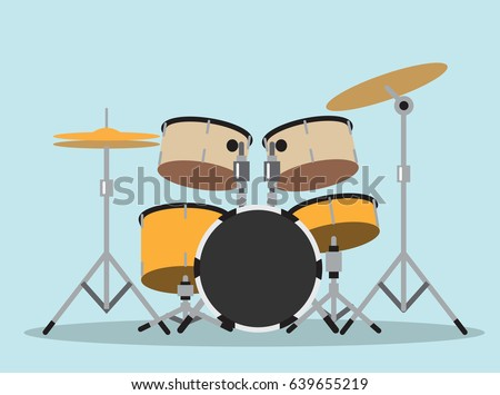 drum kit symbol  (drums, instruments, musical)