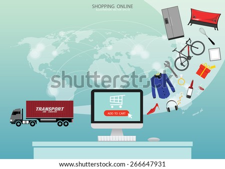 E-commerce background. Business concept.