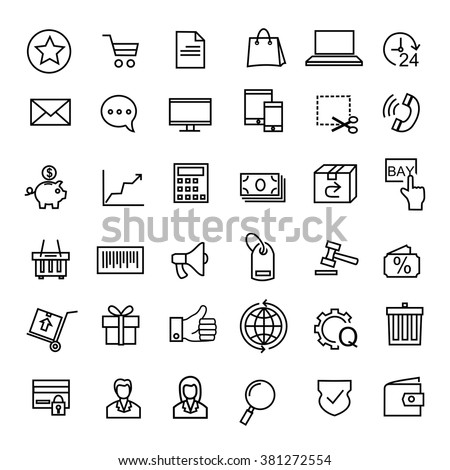 - E-commerce icons  #381272554