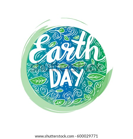 Earth Day poster. Vector illustration with the Earth day