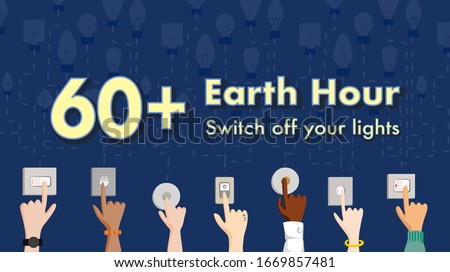 60  earth hour 2020 concept