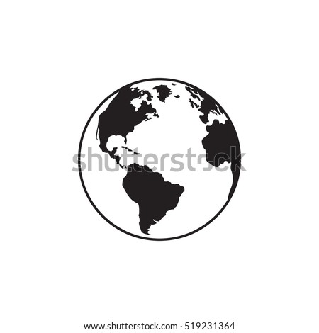 Earth icon. Vector illustration for web banner, web and mobile, infographics. Earth simbol.