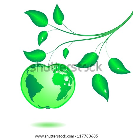 earth in the form of green