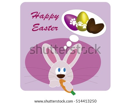 easter bunny thinks of